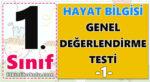 1. Sınıf Hayat Bilgisi Genel Değerlendirme Testi -1-