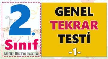 2. Sınıf Online Genel Tekrar Testi -1-