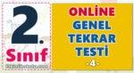 2. Sınıf Online Genel Tekrar Testi -4-