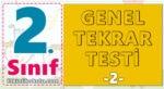 2. Sınıf Genel Tekrar Testi -2-