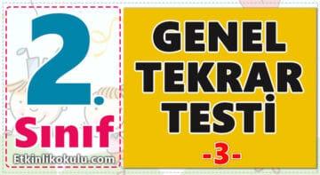 2. Sınıf Genel Tekrar Testi -3-