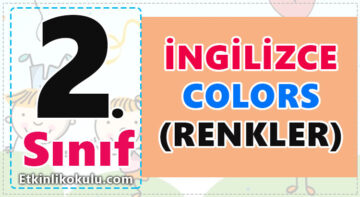 2. Sınıf - Colours (Renkler)