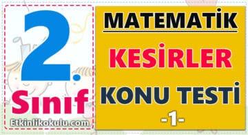 2. Sınıf Matematik Kesirler Konu Testi -1-