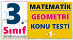 3. Sınıf Matematik Geometri Konu Testi -1-