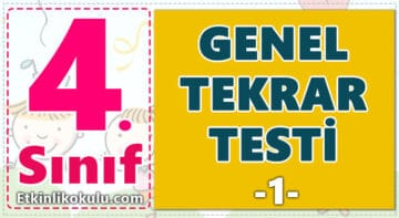 4. Sınıf Genel Tekrar Testi -1-