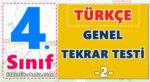 4. Sınıf Türkçe Genel Tekrar Testi -2-
