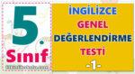 5. Sınıf İngilizce Genel Değerlendirme -1-