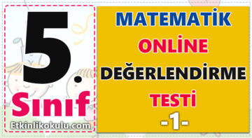5. Sınıf Matematik Testi -1-