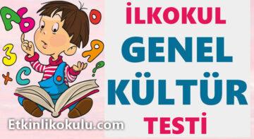 İlkokul Genel Kültür Testi