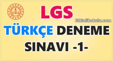 LGS Türkçe Deneme Sınavı -1-