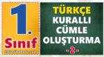1. Sınıf Türkçe Dersi Anlamlı ve Kurallı Cümle Oluşturma -2-