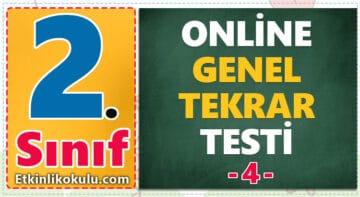 2. Sınıf Genel Tekrar Testi -4-