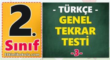2. Sınıf Türkçe Genel Tekrar Testi -3-