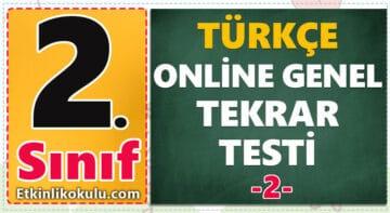 2. Sınıf Türkçe Genel Tekrar Testi -2-