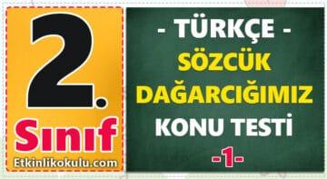 2. Sınıf Türkçe Sözcük Dağarcığımız Konu Testi -1-