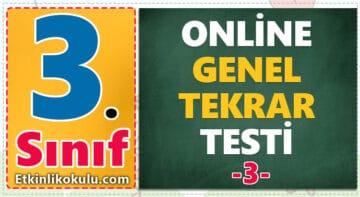 3. Sınıf Genel Tekrar Testi -3-