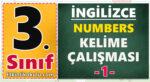 3. sınıf ingilizce numbers kelime testi sayılar kelime çalışması