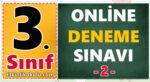 3. sınof online deneme sınvaı üçüncü sınıf genel tekrar testi