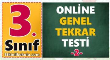 3. Sınıf Genel Değerlendirme Testi -2-