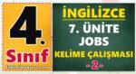 4. Sınıf İngilizce 7. Ünite Jobs Kelime Çalışması -2-