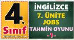 4. Sınıf İngilizce 7. Ünite Jobs Resimdeki Mesleği Tahmin Et