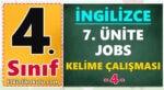 4. Sınıf İngilizce 7. Ünite Jobs Kelime Çalışması -4-