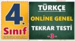 4. sınıf türkçe genel tekrar testi online test etkinlik okulu